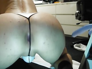 Big Fat Swedish Bubble Ass Taking a Toy on Doggy