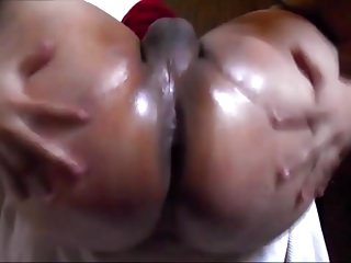 Big butt sissy oiled