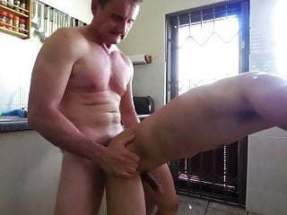 South African fucks Thai twink in kitchen