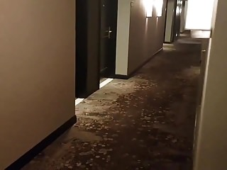 French Asian mixed sucks in hotel corridor (56'')
