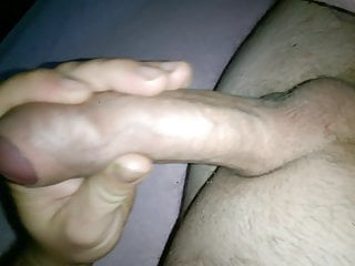 uncut cock morning cumshot