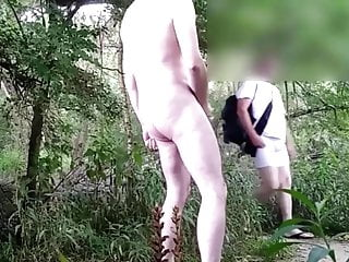Exhibition and blowjob in the forest 6