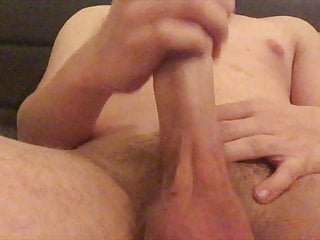 Young boy has fun with his dick