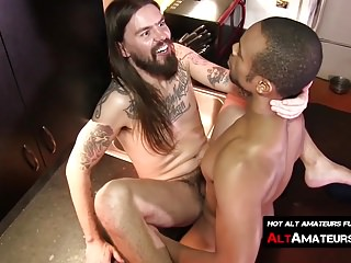 Murphy Maxwell and Timarrie Baker have interracial gay sex
