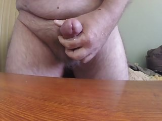 Licking up my cum then shooting again