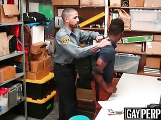 Security officer destroys a young ebony shoplifters ass