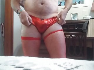 10 27 27 Danruns fucking red panty and thigh high cum play