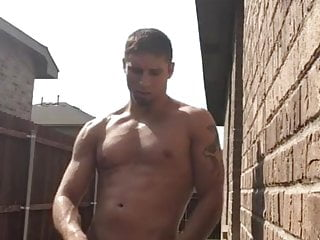 Outside Hunk Orgasm