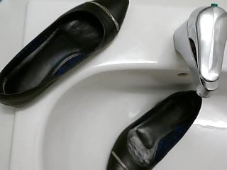 Piss in co-workers shoe (ballet flats)