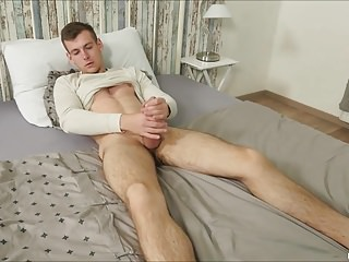 Victor Creed Rubs Uncut Cock