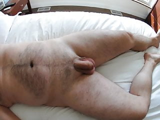 Amateur Hairy Uncut Cock Masturbating