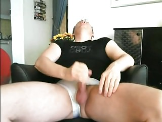 Masturbation with cumshot