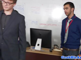 Hunk anally drilled by his employee