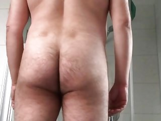 mature exhibitionist - body presentation and erection