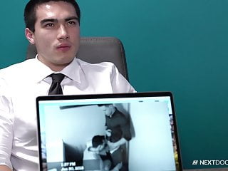 NextDoorBuddies Hunk Asian Boss Barebacks Employee At Work