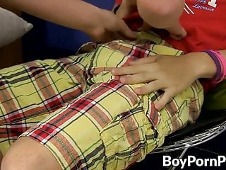 Assfucked twink Colby gives cock and lollipop to young Billy